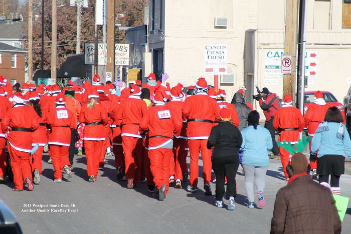 Santa Dash rearview