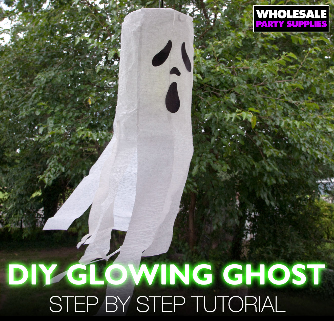 DIY Glowing Ghost