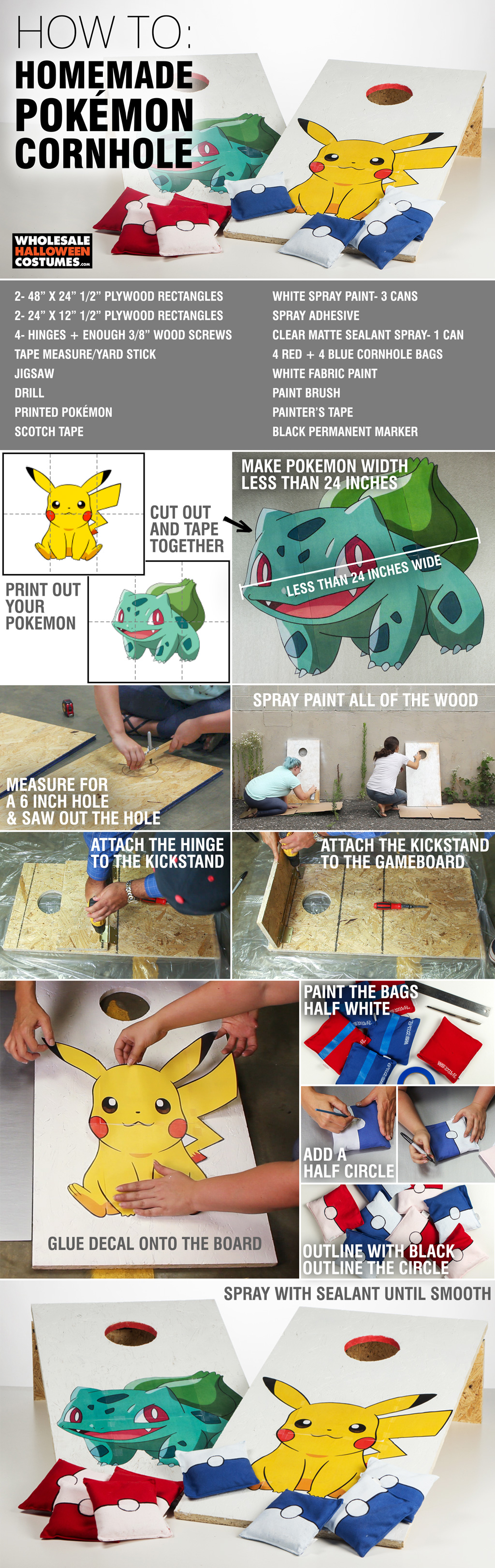 DIY Pokemon Cornhole Guide