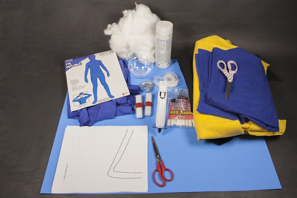 DIY Dory Costume Supplies