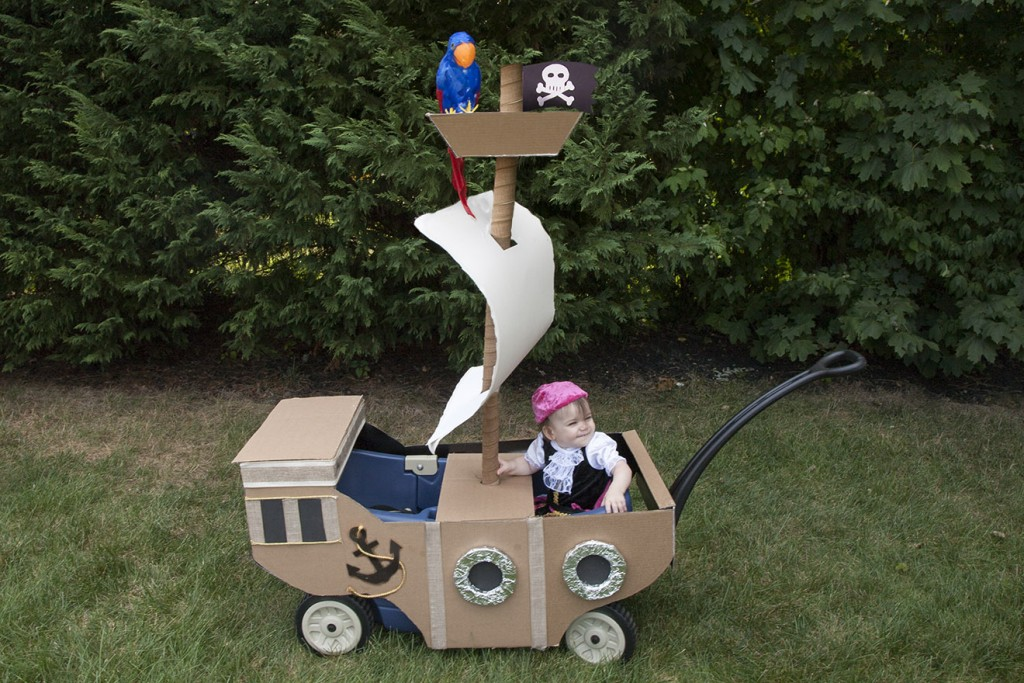 DIY Wagon Pirate Ship Final Look