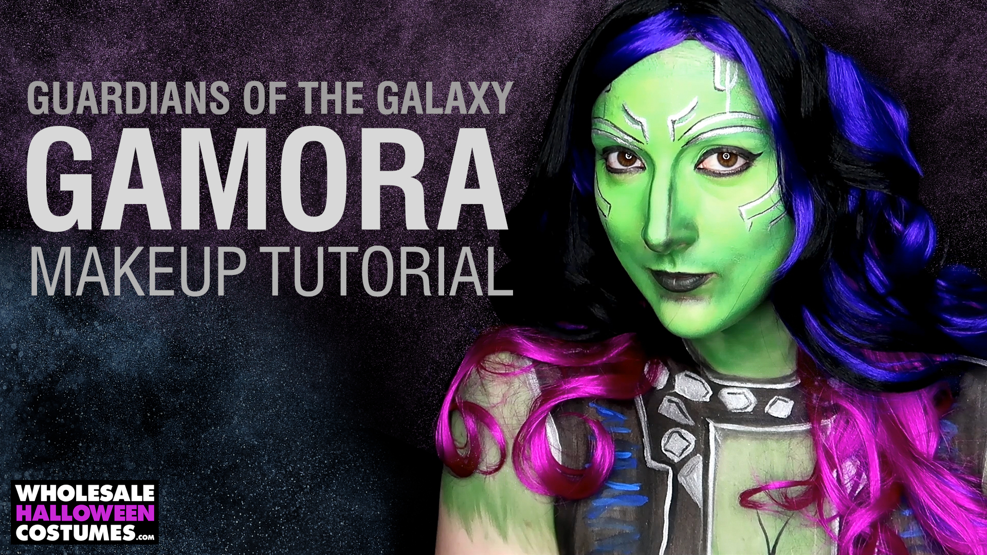 Guardians of the Galaxy - Gamora Makeup Tutorial