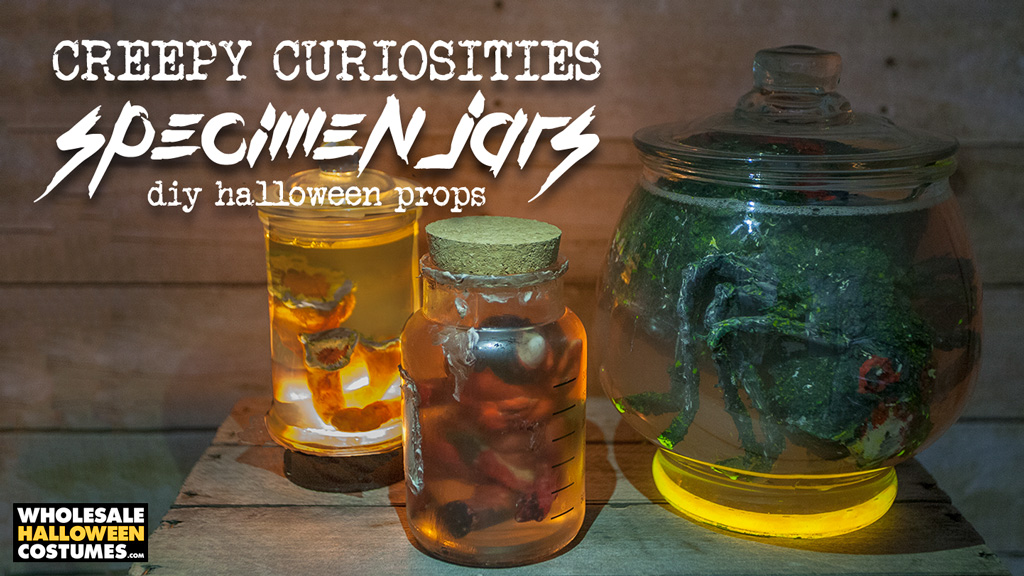 Creepy Halloween Specimen Jars DIY Tutorial