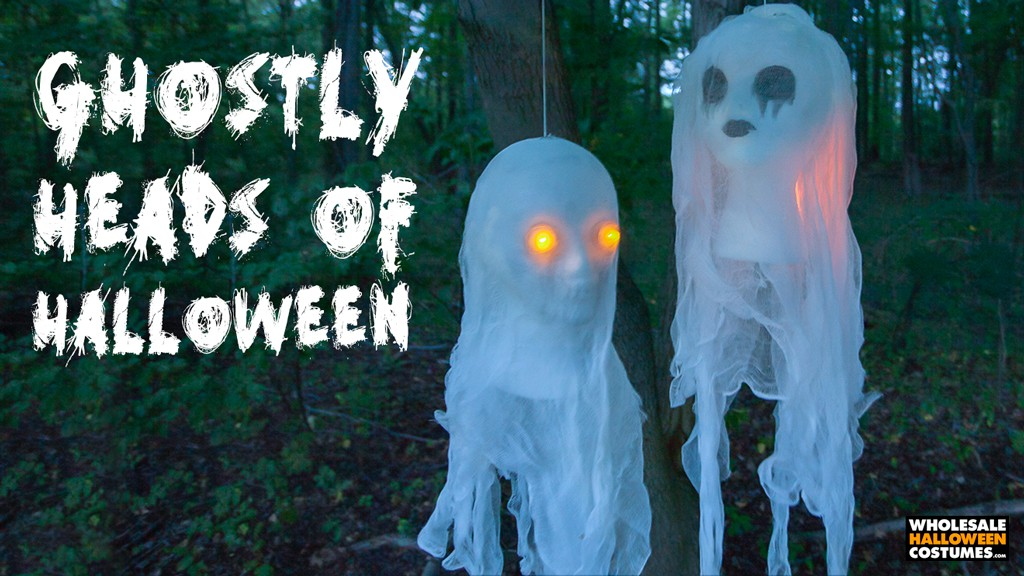 Halloween Glowing Cheesecloth Ghost Bust DIY