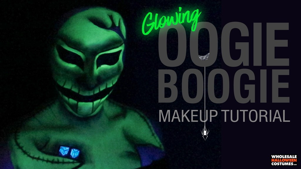 Oogie Boogie Glowing Makeup Tutorial