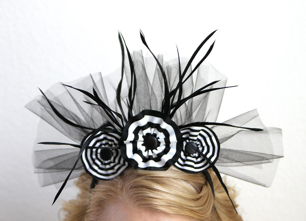 Black and White Halloween Headband Step 6