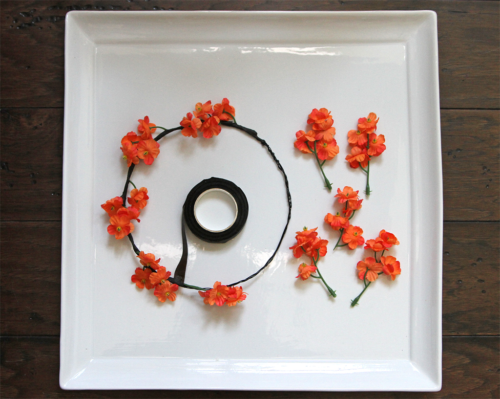 DIY Halloween Flower Crown Step 3