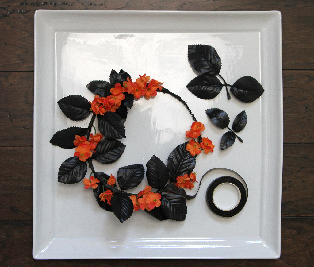DIY Halloween Flower Crown Step 4