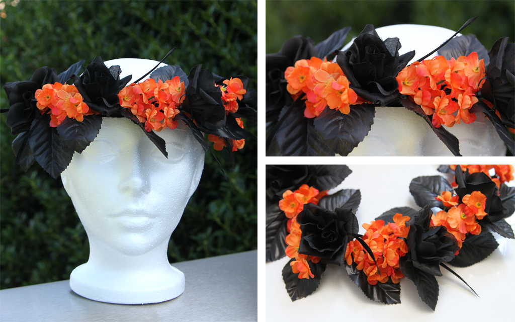 DIY Halloween Flower Crown Step 6