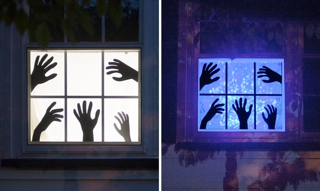 Creepy Halloween Window Silhouettes with FREE Templates