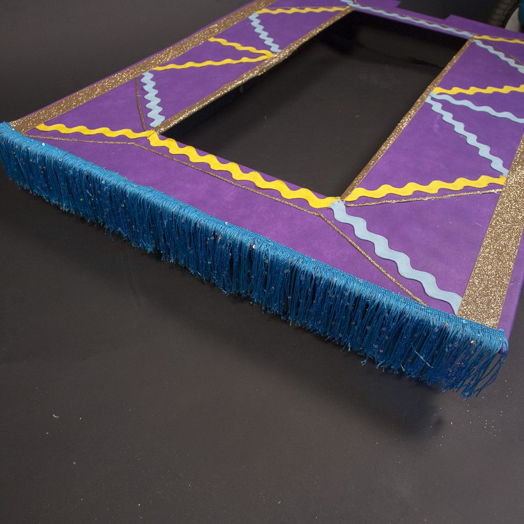 DIY Magic Carpet Trick or Treating Wagon