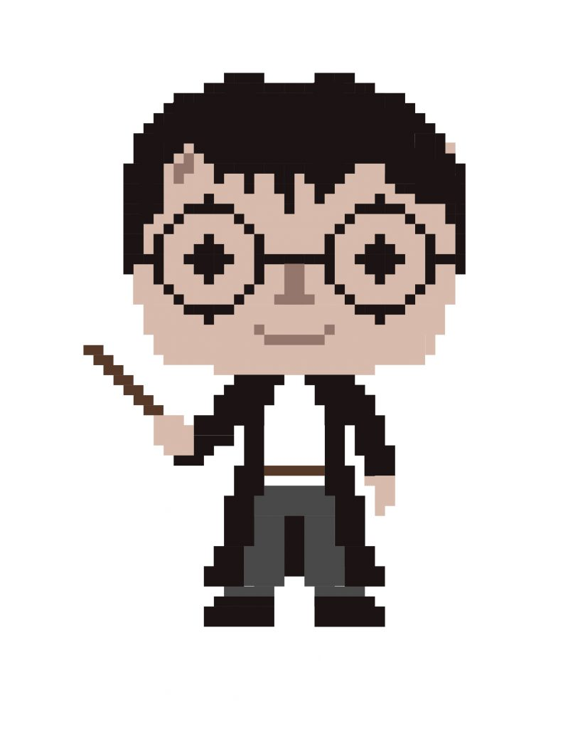 Harry Potter Pixel Art Color by Number