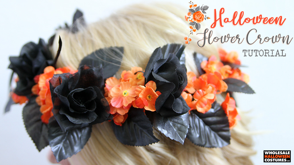 DIY Halloween Flower Crown Tutorial