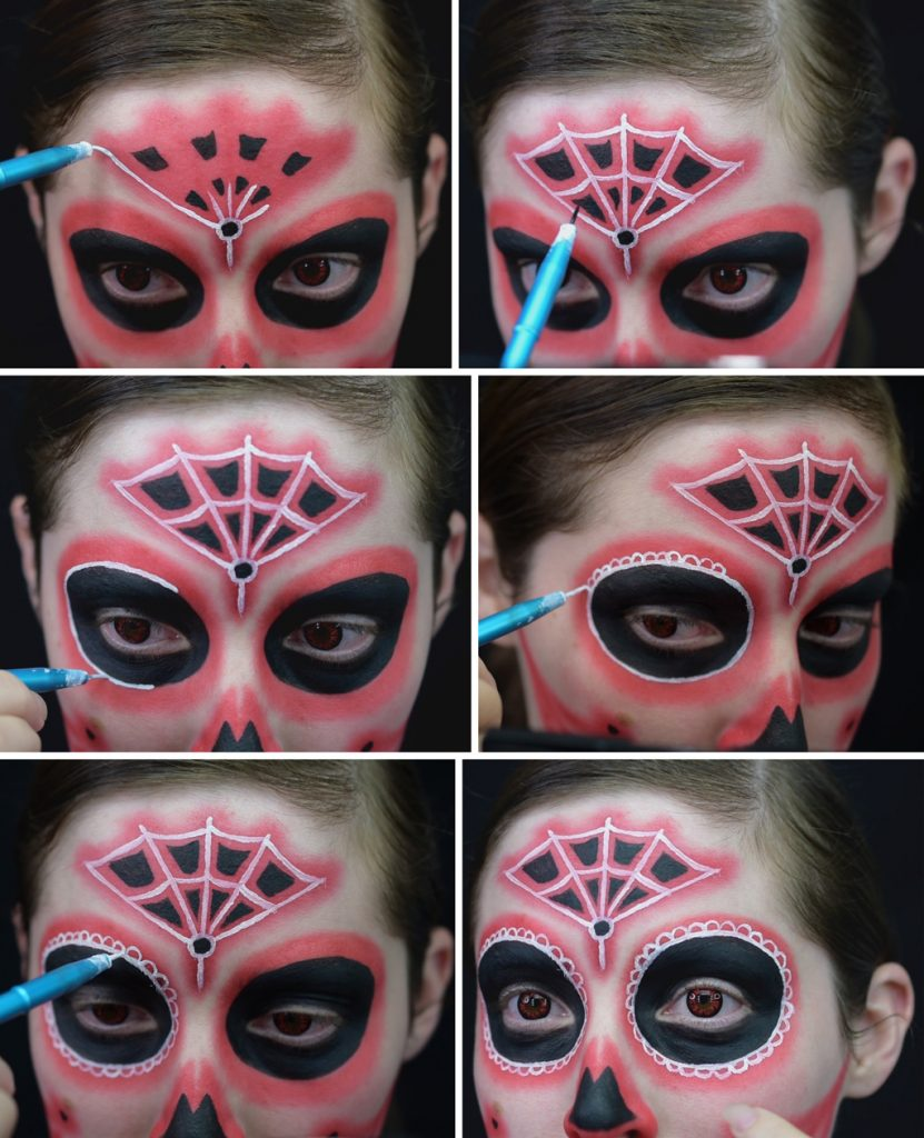Neon Light Style Sugar Skull Makeup Tutorial