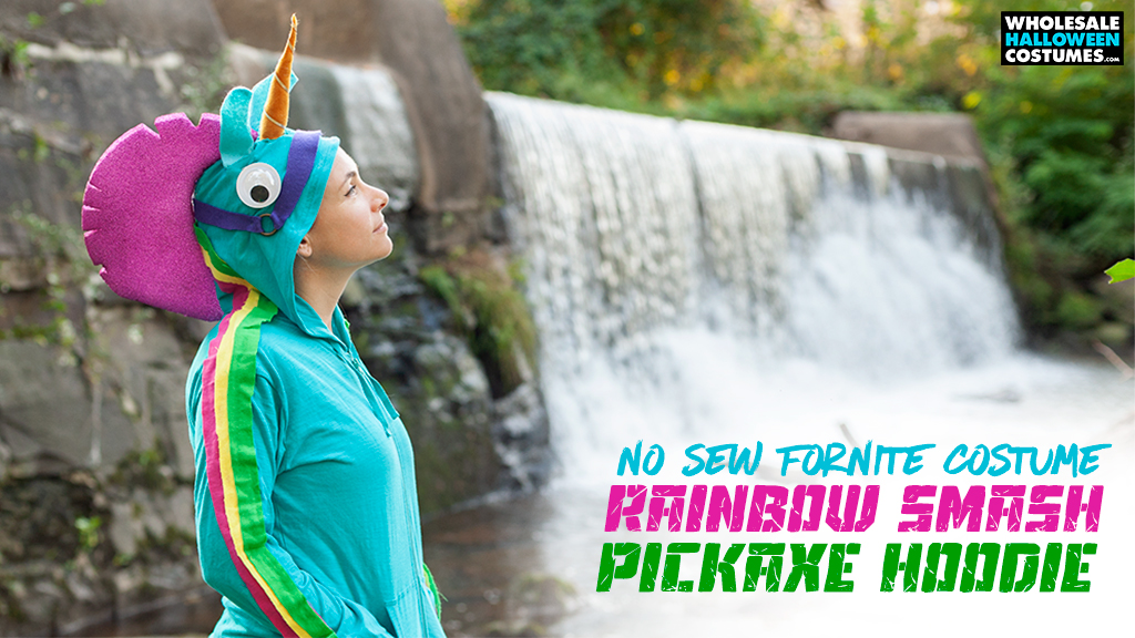 DIY Fortnite Rainbow Smash Pickaxe Hoodie Tutorial