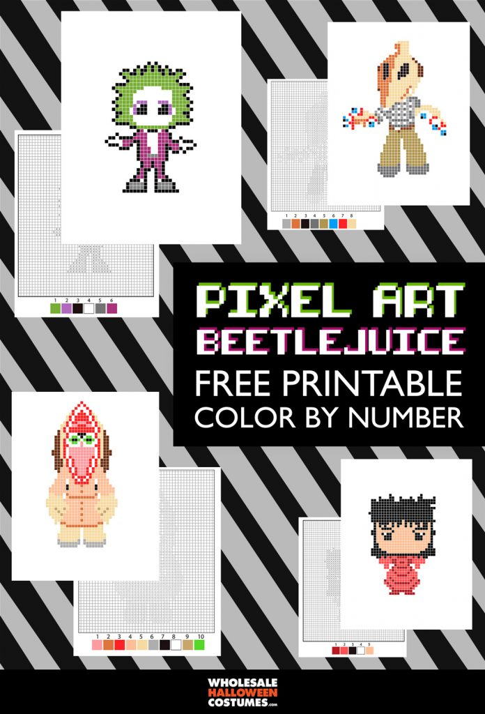 Beetlejuice Pixel Art Color by Number
