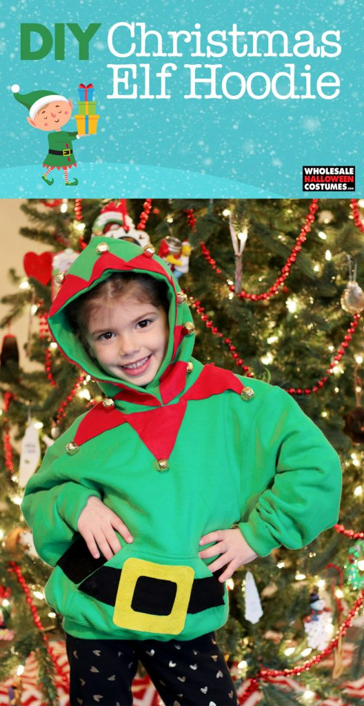 DIY Elf Hoodie - Christmas Costume Pinterest Guide