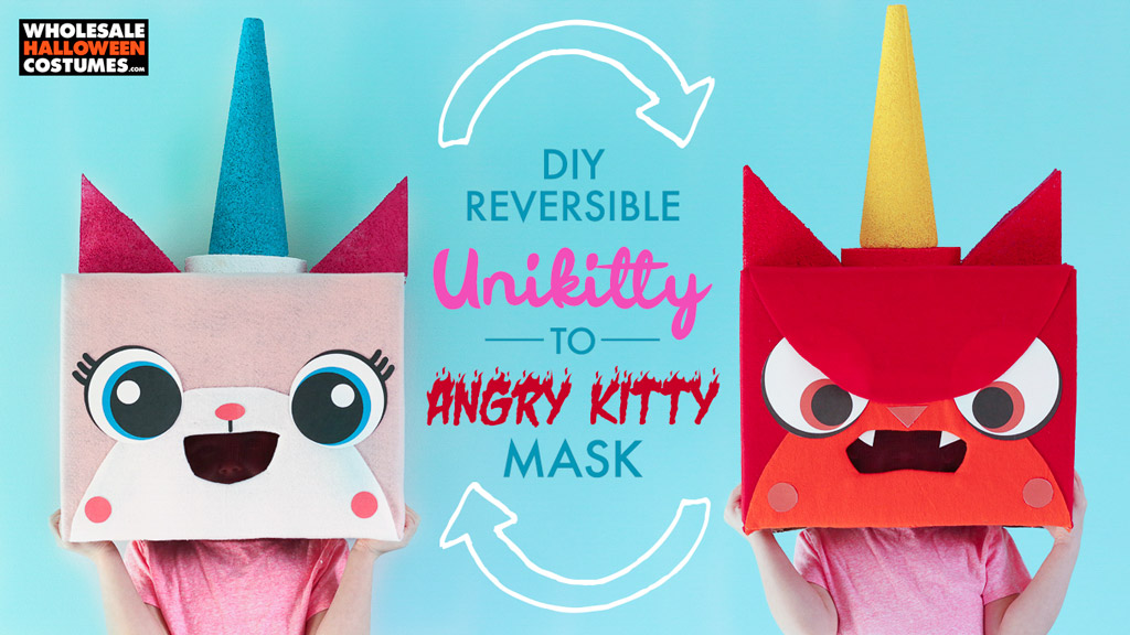 DIY Unikitty Angry Kitty Reversible Mask