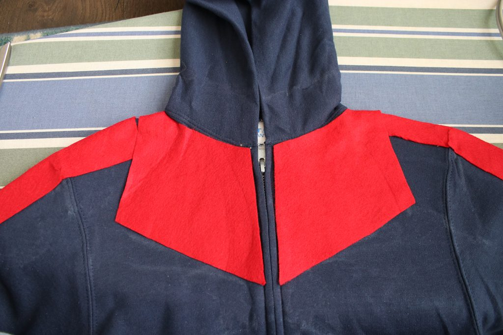 DIY Captain Marvel Hoodie Costume