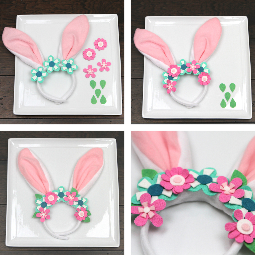 DIY Bunny Ears Flower Headband