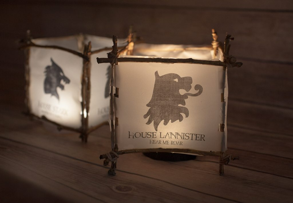 DIY Game of Throne Luminaries - House Crest Printables