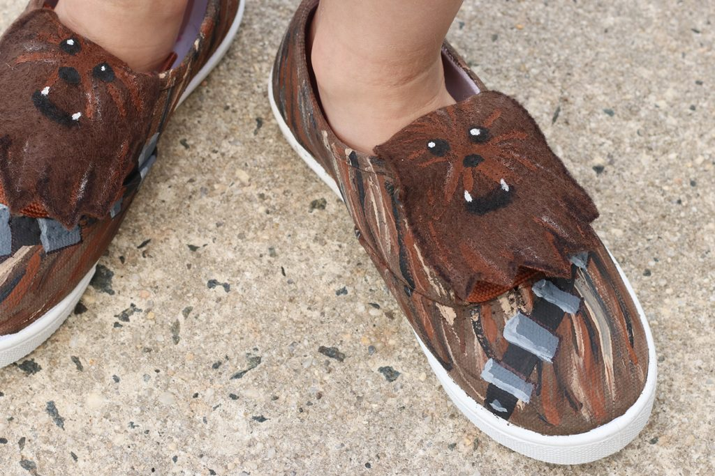 DIY Custom Chewbacca Shoes