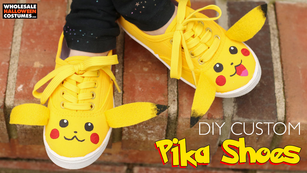 Customized Pikachu Shoes Tutorial