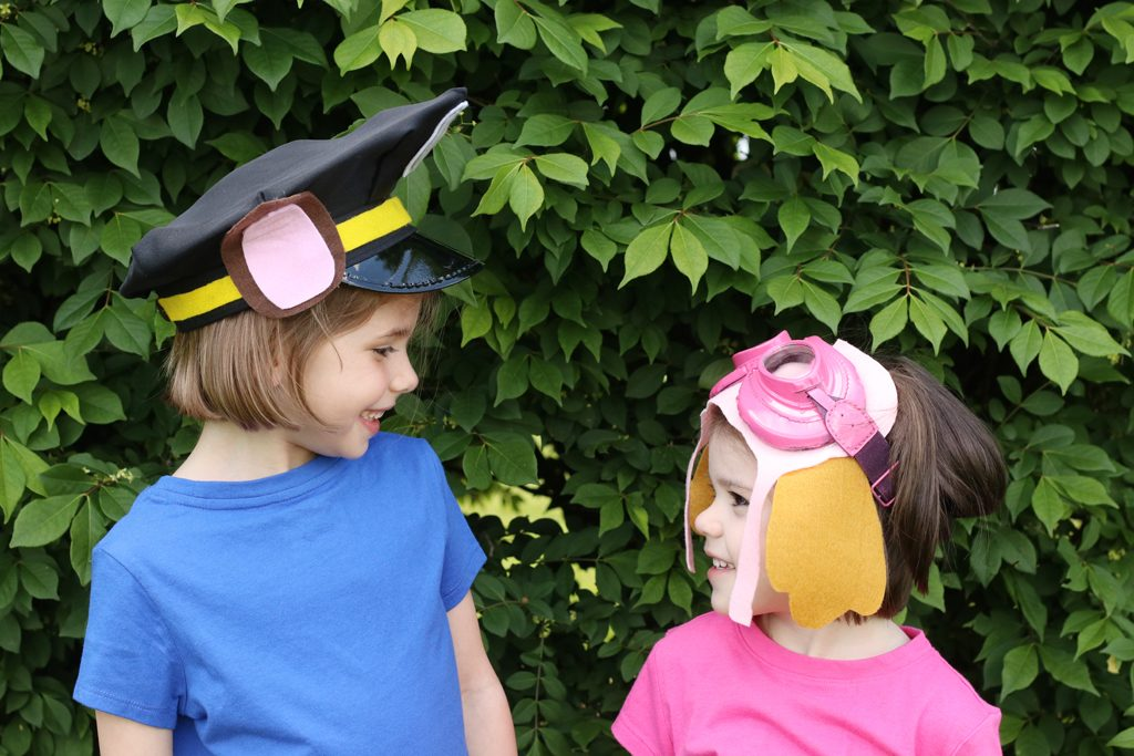 DIY Paw Patrol Hats -Chase and Skye