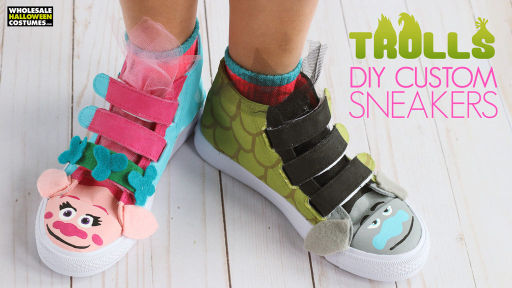 DIY Trolls Customized Shoes