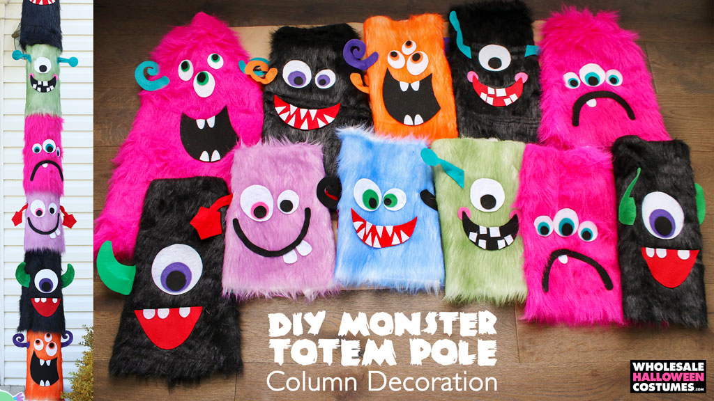 DIY Halloween Monster Totem Pole Decoration