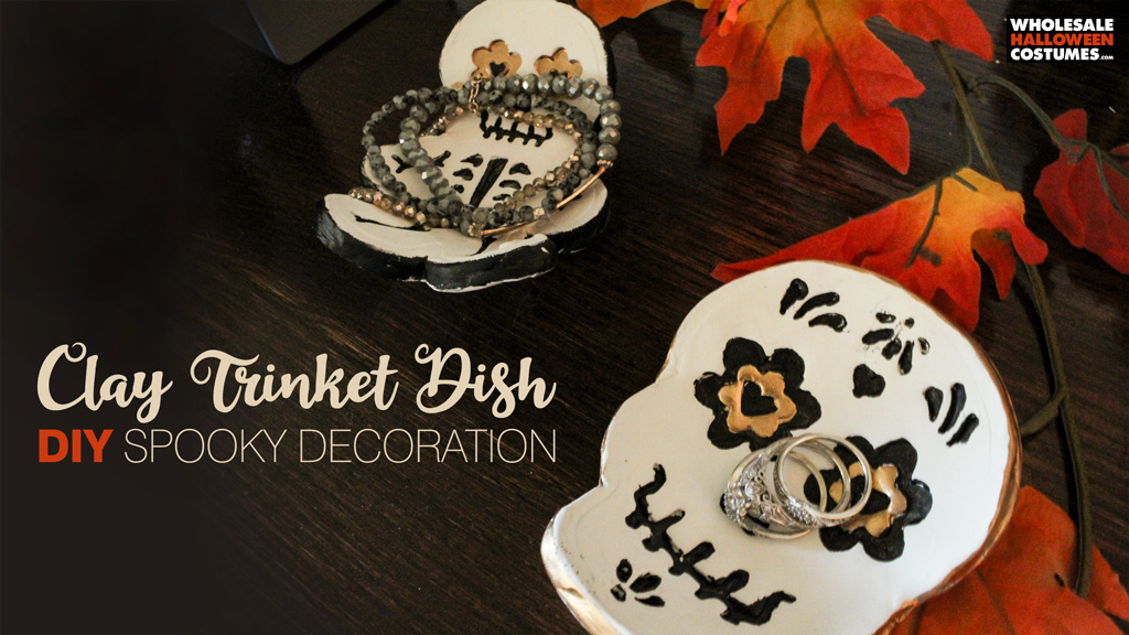 DIY Clay Trinket Dish Spooky Decoration