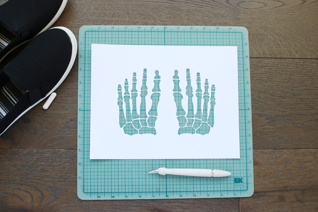 DIY Skeleton Shoes Stencils