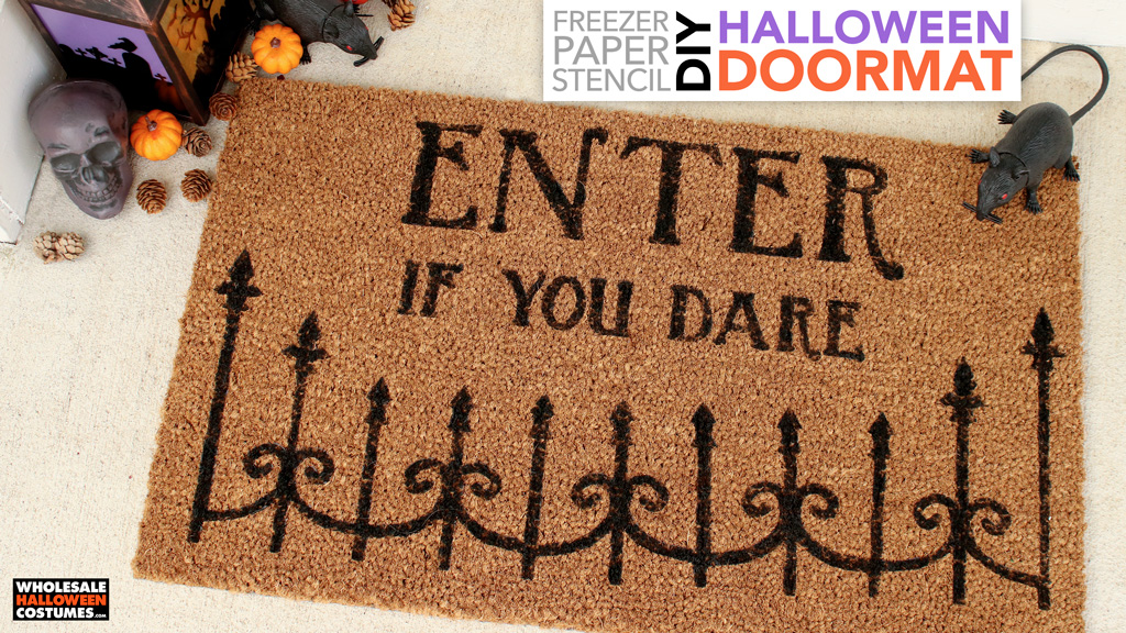 DIY Halloween Door Mat