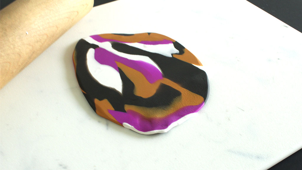 Marbled Clay Rolled Flat