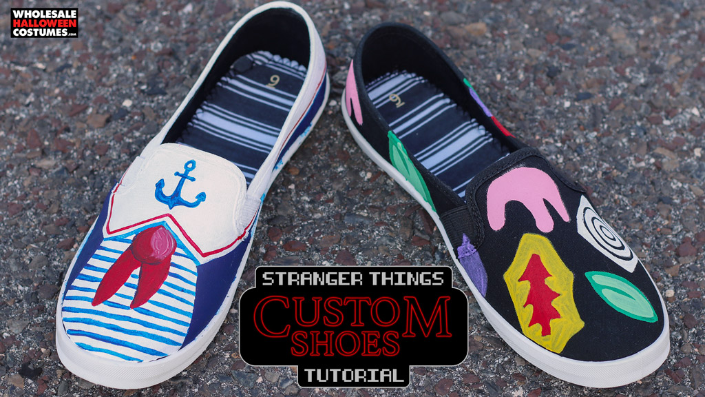 DIY Stranger Things Inspired Shoes