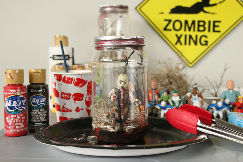 Zombie Halloween DIY Candy Bowl