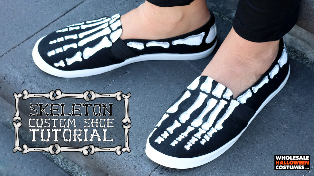 DIY Skeleton Shoes Tutorial