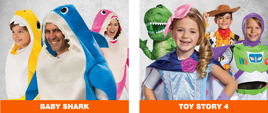 Baby Shark & Toy Story 4 Halloween Costumes