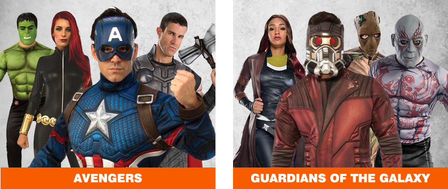 Avengers & Guardians of the Galaxy Halloween Costumes