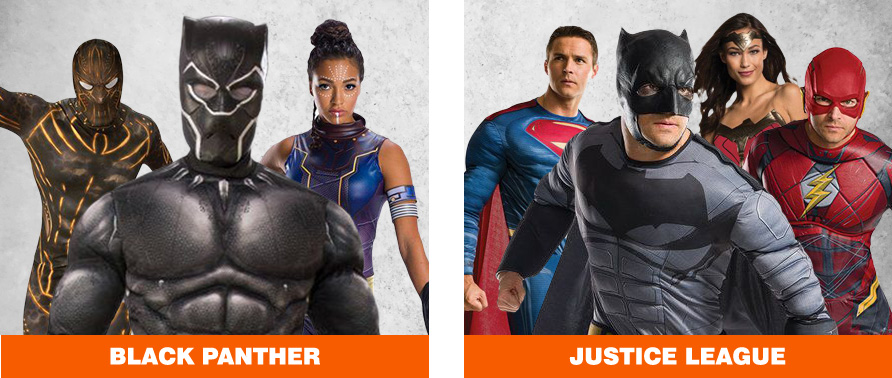 Black Panther & Justice League Halloween Costumes
