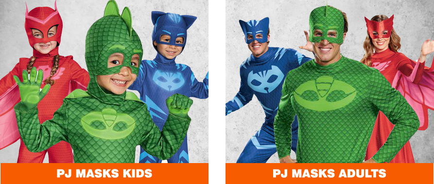 PJ Masks Halloween Costumes for Kids & Adults