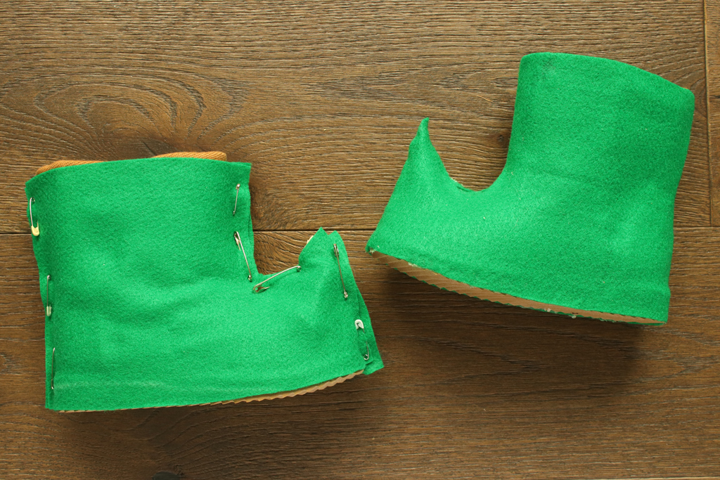 DIY Elf Shoes for Christmas
