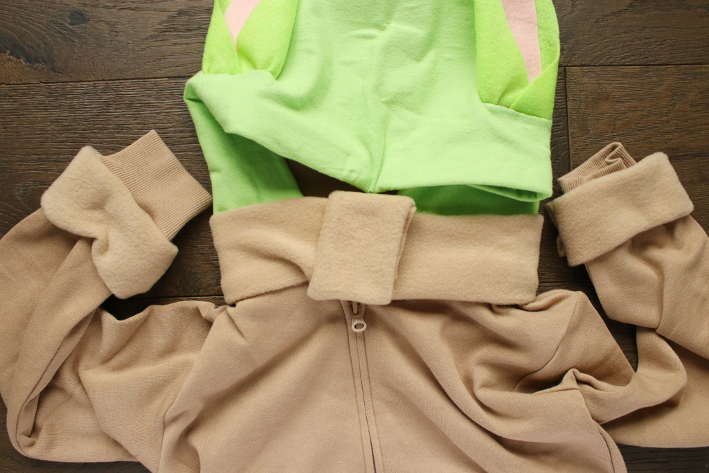 DIY Baby Yoda Hoodie and Slippers Tutorial