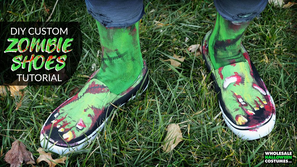 DIY Zombie Custom Shoes Tutorial