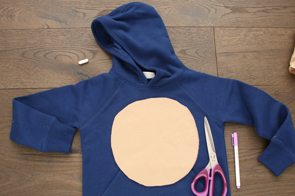 DIY Sonic The Hedgehog Hoodie Stomach