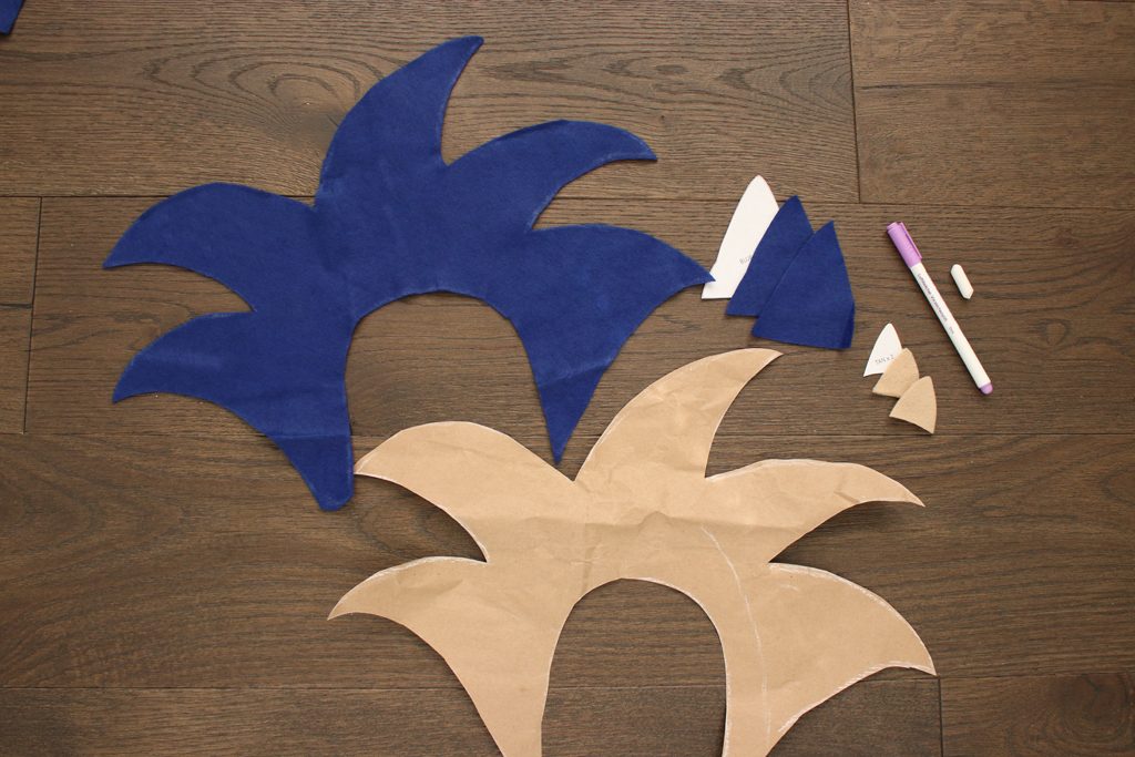 DIY Sonic the Hedgehog Hoodie Pieces
