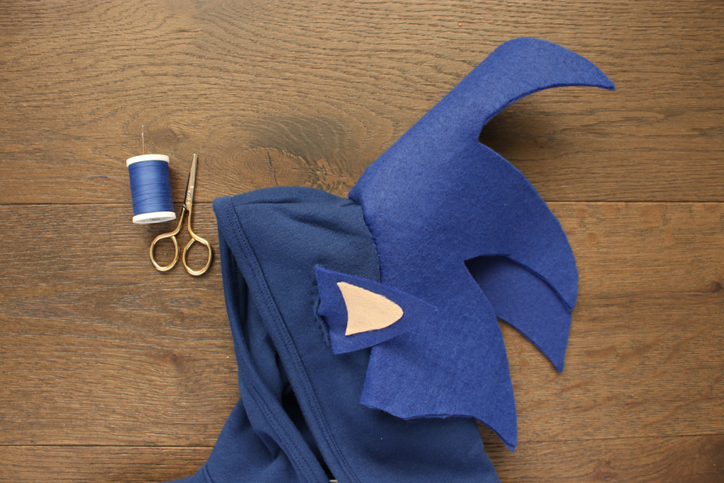 DIY Sonic The Hedgehog Hoodie Ears