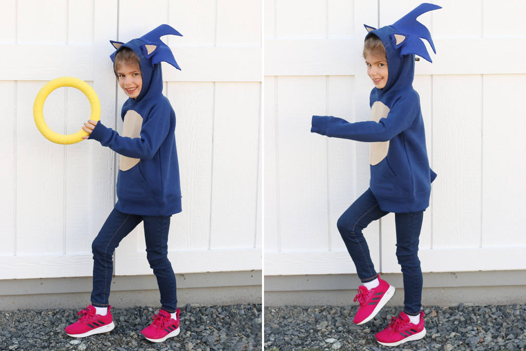 DIY Sonic The Hedgehog Hoodie Final