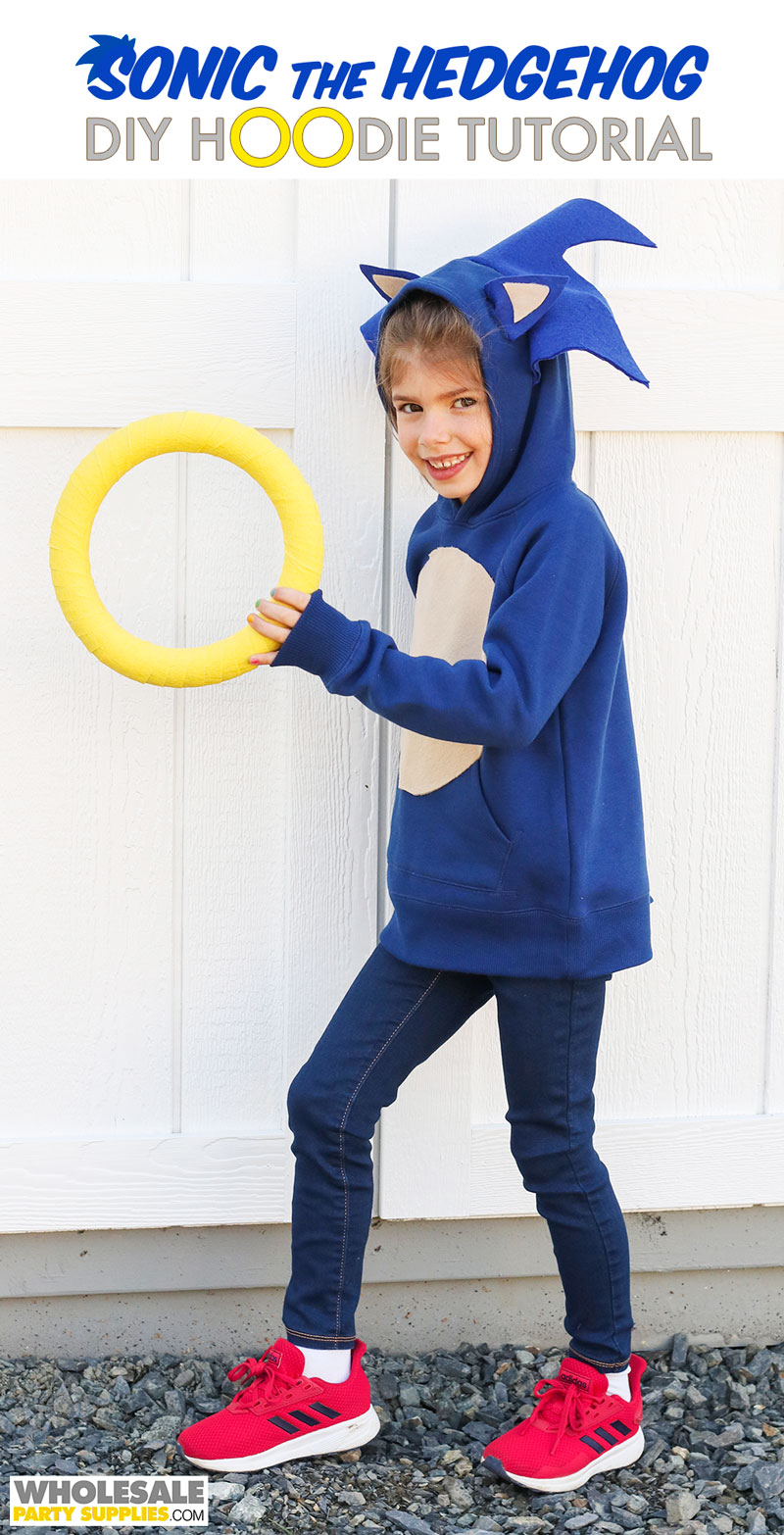DIY Sonic The Hedgehog Hoodie Tutorial