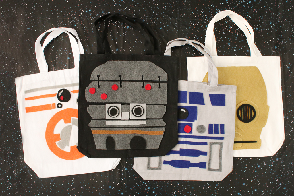 Star Wars Droids DIY Totes - Tutorial and Templates